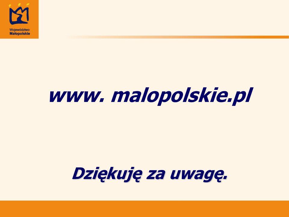 Dziękuję za uwagę. www. malopolskie.pl