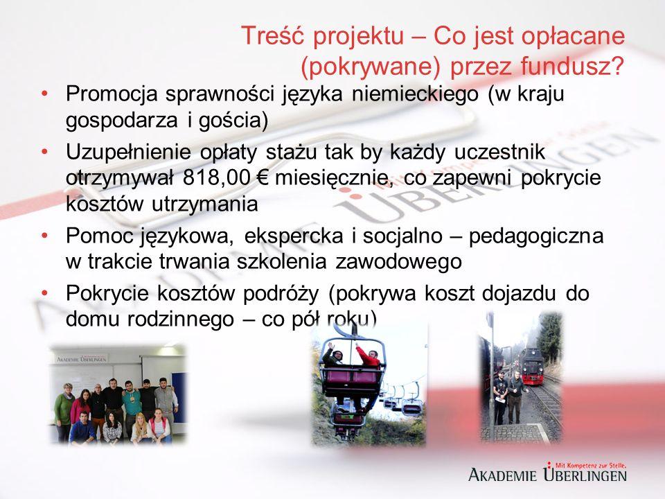 Treść projektu – Co jest opłacane (pokrywane) przez fundusz.