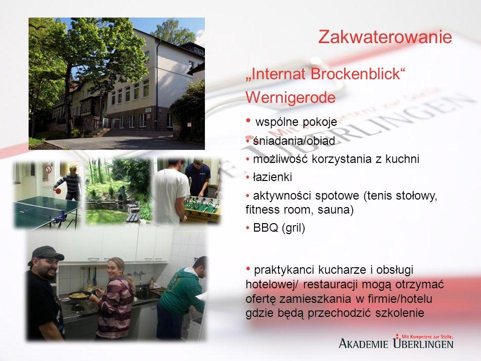 """Zakwaterowanie """" Internat Brockenblick Wernigerode wspólne pokoje śniadania/obiad możliwość korzystania z kuchni łazienki aktywności spotowe (tenis stołowy, fitness room, sauna) BBQ (gril) praktykanci kucharze i obsługi hotelowej/ restauracji mogą otrzymać ofertę zamieszkania w firmie/hotelu gdzie będą przechodzić szkolenie"""