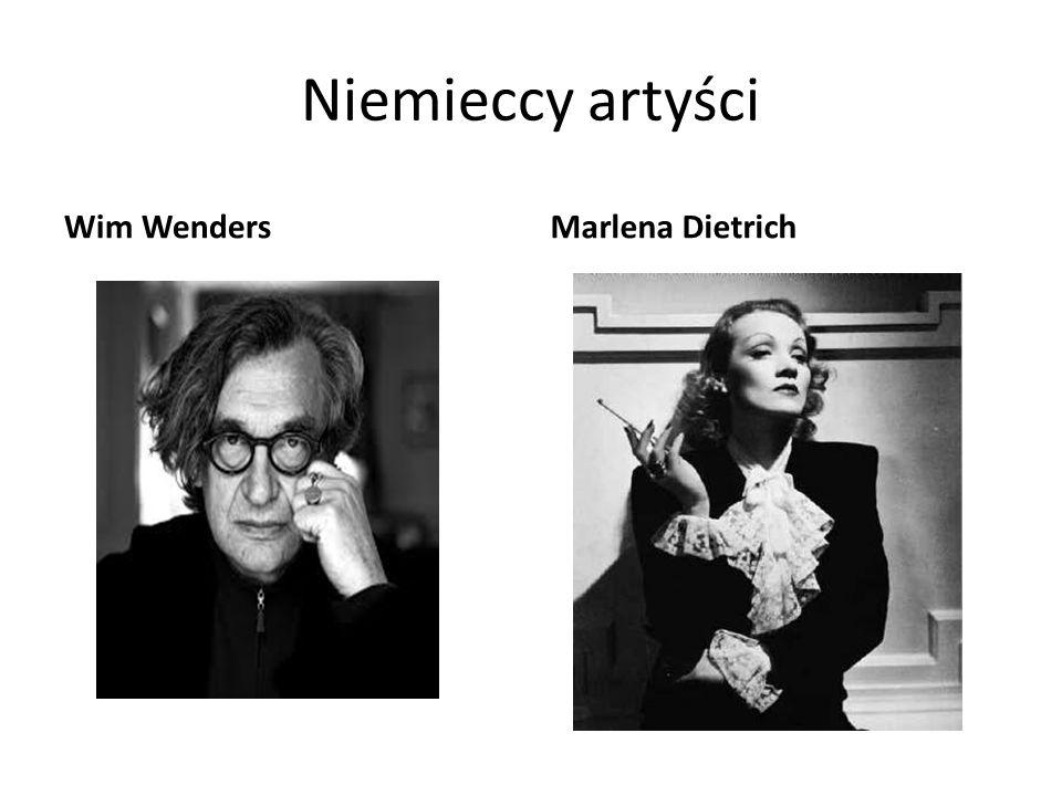 Niemieccy artyści Wim WendersMarlena Dietrich