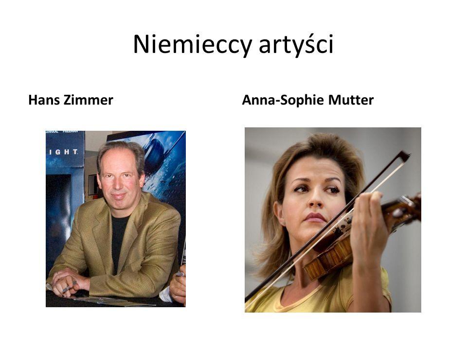 Niemieccy artyści Hans ZimmerAnna-Sophie Mutter
