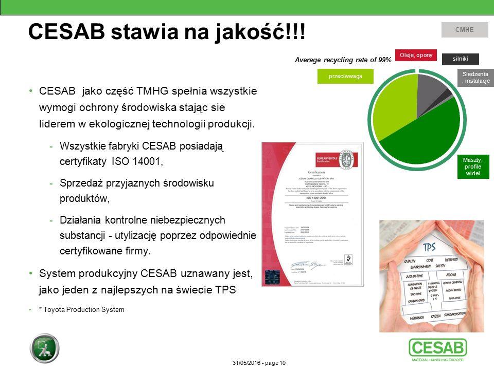 31/05/2016 - page 10 CESAB stawia na jakość!!.