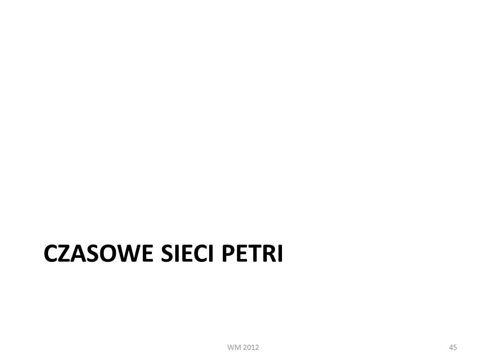 CZASOWE SIECI PETRI WM 201245