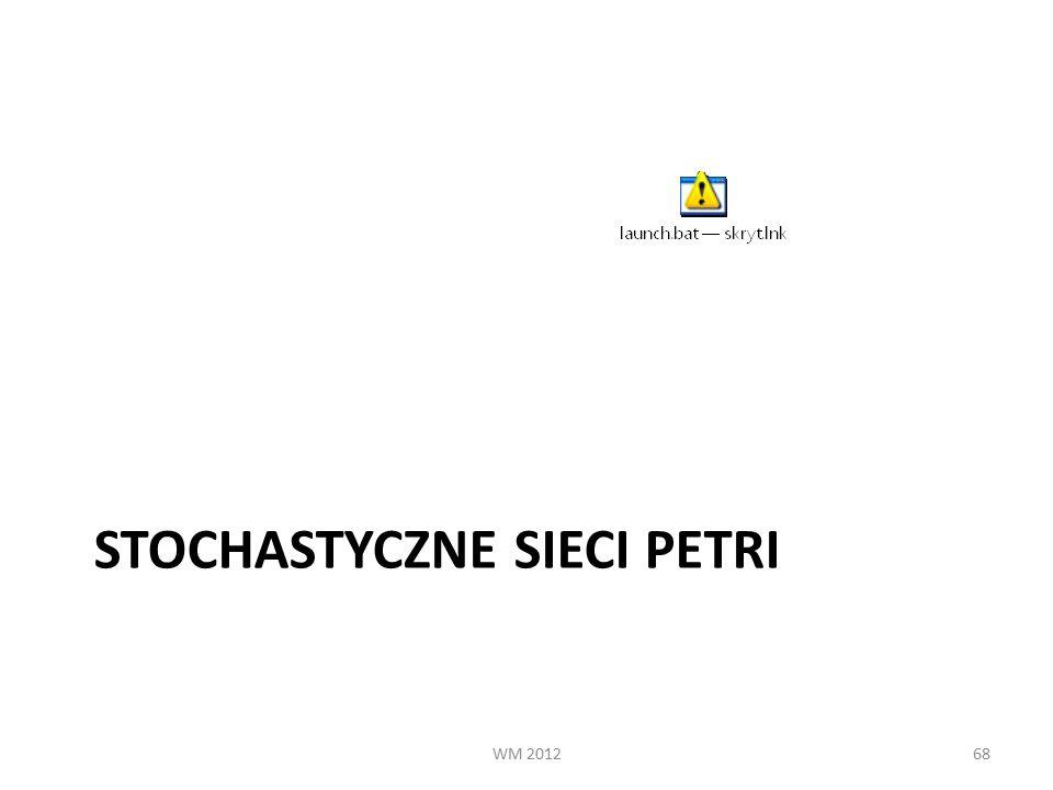 STOCHASTYCZNE SIECI PETRI WM 201268