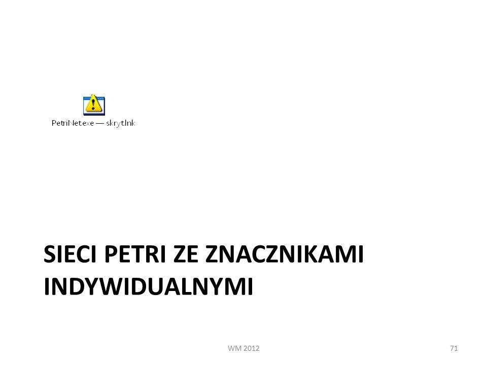 SIECI PETRI ZE ZNACZNIKAMI INDYWIDUALNYMI WM 201271