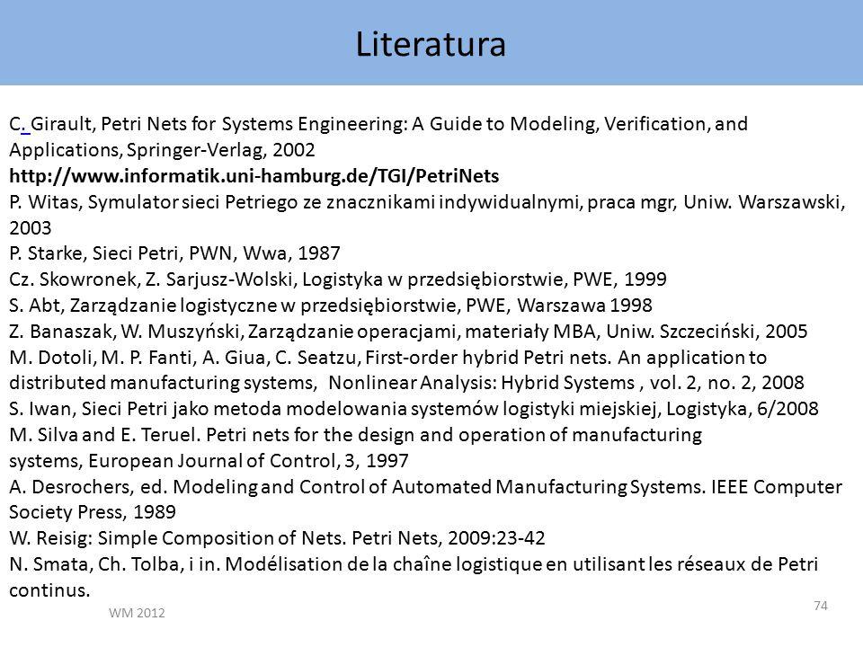 Literatura WM 2012 74 C.