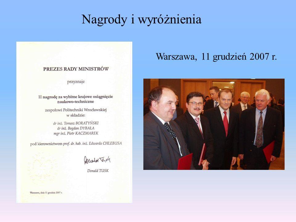 Warszawa, 11 grudzień 2007 r. Nagrody i wyróżnienia
