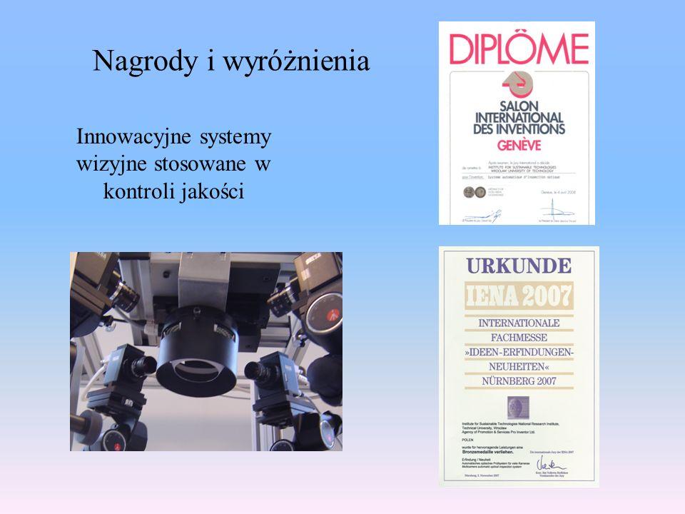 Innowacyjne systemy wizyjne stosowane w kontroli jakości Nagrody i wyróżnienia