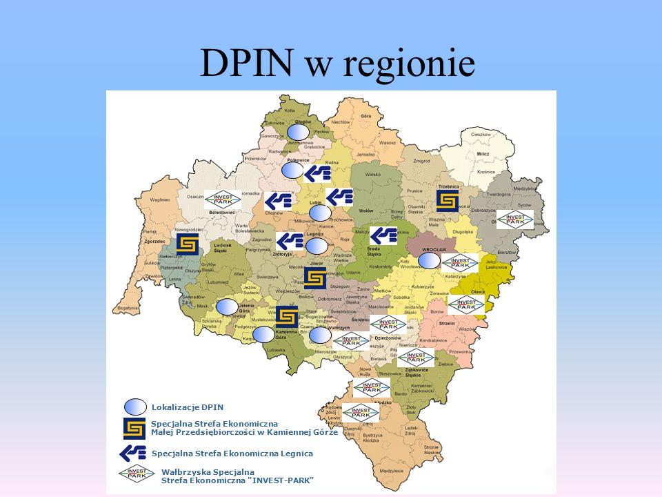 DPIN w regionie Wałbrzyska Specjalna Strefa Ekonomiczna INVEST-PARK Specjalna Strefa Ekonomiczna Legnica Specjalna Strefa Ekonomiczna Małej Przedsiębiorczości w Kamiennej Górze Lokalizacje DPIN