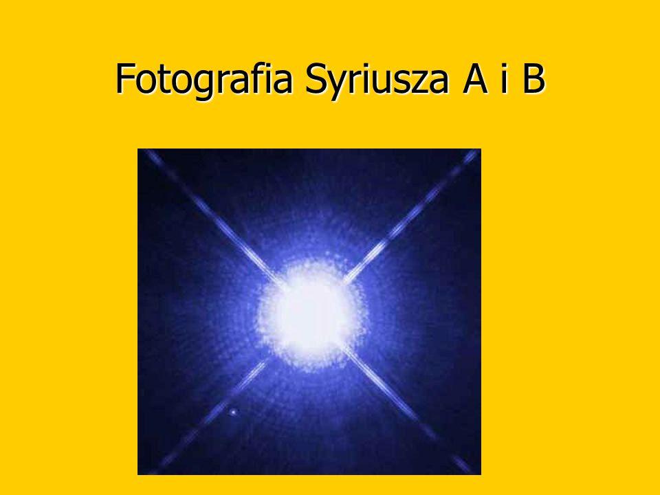 Fotografia Syriusza A i B