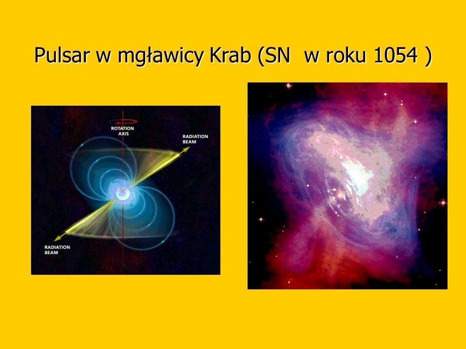 Pulsar w mgławicy Krab (SN w roku 1054 )