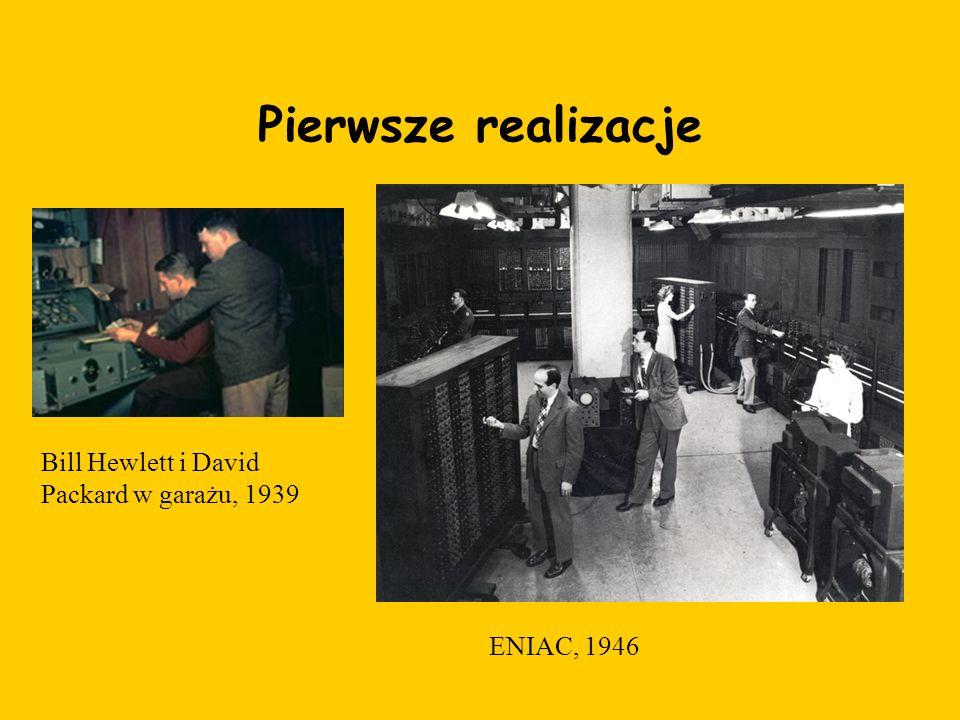 Pierwsze realizacje Bill Hewlett i David Packard w garażu, 1939 ENIAC, 1946