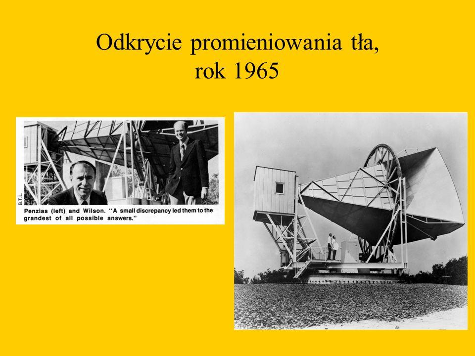 Odkrycie promieniowania tła, rok 1965