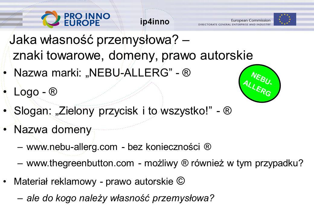 ip4inno Jaka własność przemysłowa.