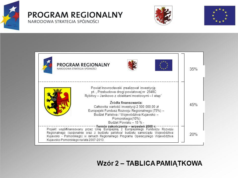 Projekt współfinansowany przez Unię Europejską z Europejskiego Funduszu Rozwoju Regionalnego (opcjonalnie oraz z budżetu państwa/ budżetu samorządu Województwa Kujawsko - Pomorskiego) w ramach Regionalnego Programu Operacyjnego Województwa Kujawsko-Pomorskiego na lata 2007-2013.