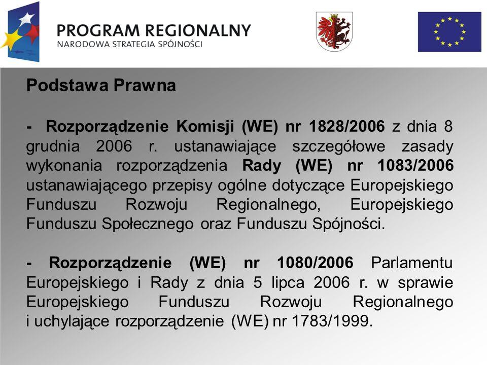 Podstawa Prawna - Rozporządzenie Komisji (WE) nr 1828/2006 z dnia 8 grudnia 2006 r.