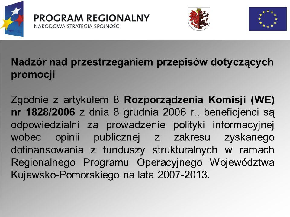 """Narzędzia komunikacji audiowizualnej (prezentacje multimedialne) Narzędzia komunikacji audiowizualnej powinny opatrzone być : Logo """"Program Regionalny Narodowa Strategia Spójności , herb Województwa Kujawsko-Pomorskiego oraz logo Unii Europejskiej."""