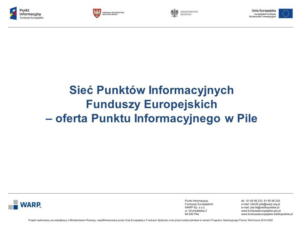 ZAKRES USŁUG ŚWIADCZONYCH PRZEZ PIFE:  informowanie o projektach finansowanych z Funduszy Europejskich,  informowanie o możliwości uzyskania dofinansowania oraz ogólne informacje o Funduszach Europejskich,  konsultacje na etapie przygotowania projektu,  konsultacje na etapie realizacji projektu, Usługi PIFE świadczone są bezpłatnie.