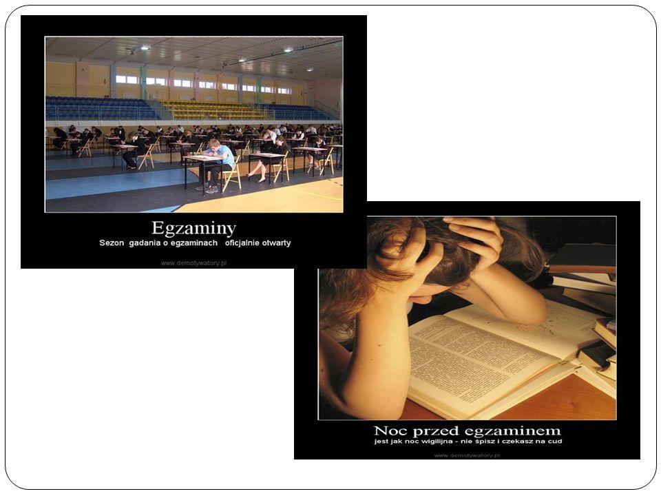 Egzamin gimnazjalny Egzamin gimnazjalny przeprowadzany jest w trzeciej klasie gimnazjum.