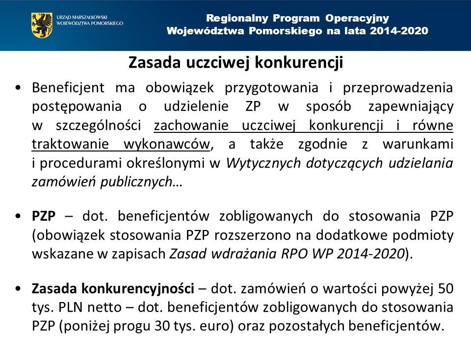 Regionalny Program Operacyjny Województwa Pomorskiego na lata 2014-2020 Zlecanie zadań merytorycznych Oznacza powierzenie wykonawcom zewnętrznym realizacji całości działań merytorycznych, które nie mogą przekroczyć 30% wartości projektu, chyba że jest to uzasadnione specyfiką projektu.