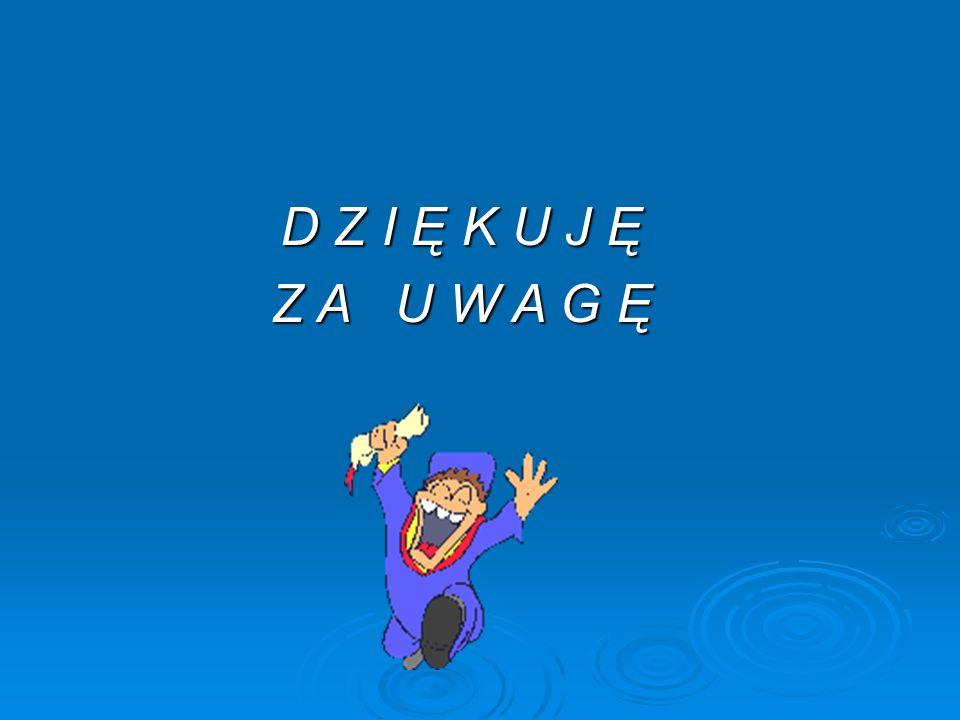 D Z I Ę K U J Ę Z A U W A G Ę