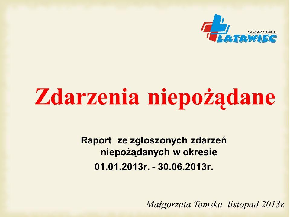 Skutki upadków pacjentów 2006 – VI 2013r (107 upadków)