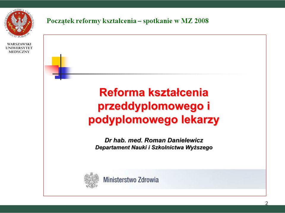 22 Początek reformy kształcenia – spotkanie w MZ 2008
