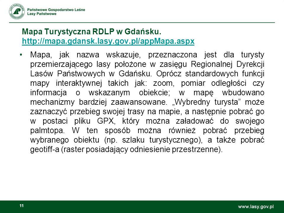 11 Mapa Turystyczna RDLP w Gdańsku.