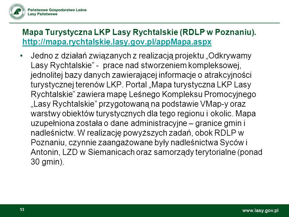 13 Mapa Turystyczna LKP Lasy Rychtalskie (RDLP w Poznaniu).