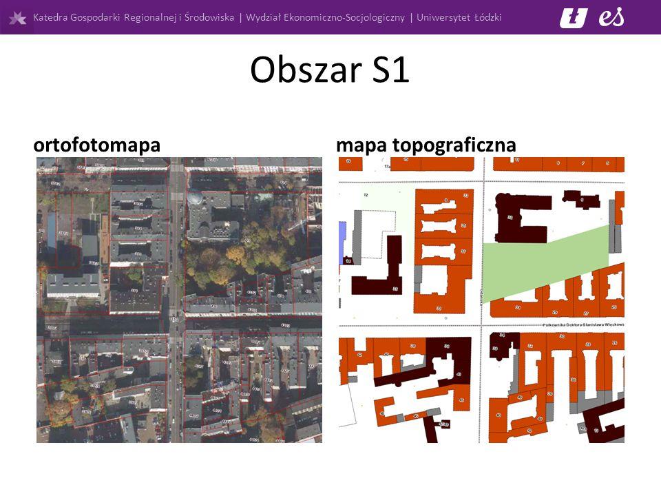 Katedra Gospodarki Regionalnej i Środowiska | Wydział Ekonomiczno-Socjologiczny | Uniwersytet Łódzki Obszar S1 ortofotomapa mapa topograficzna