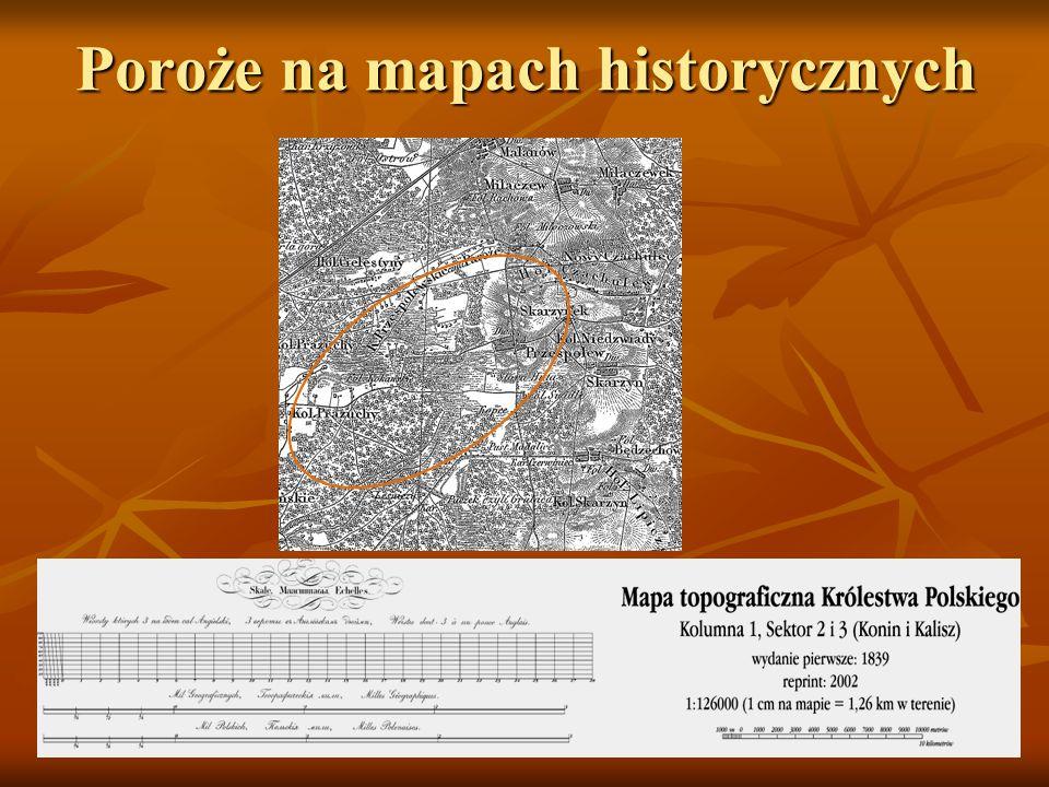 Poroże na mapach historycznych