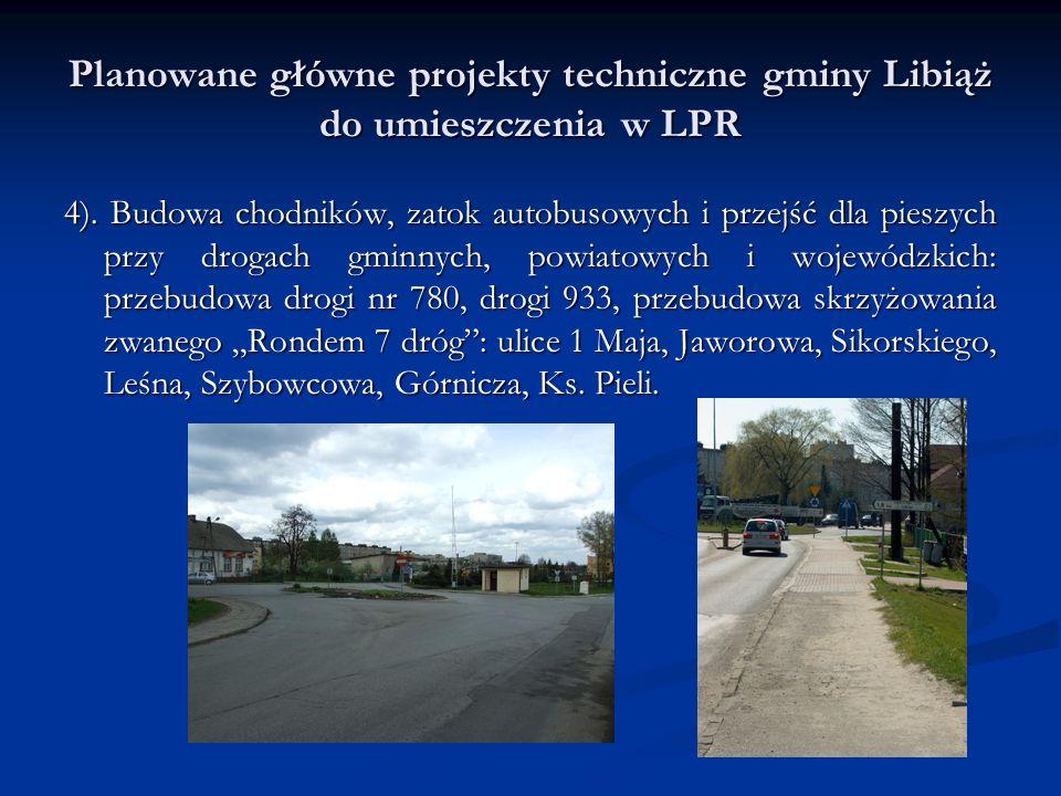 Planowane główne projekty techniczne gminy Libiąż do umieszczenia w LPR 4).