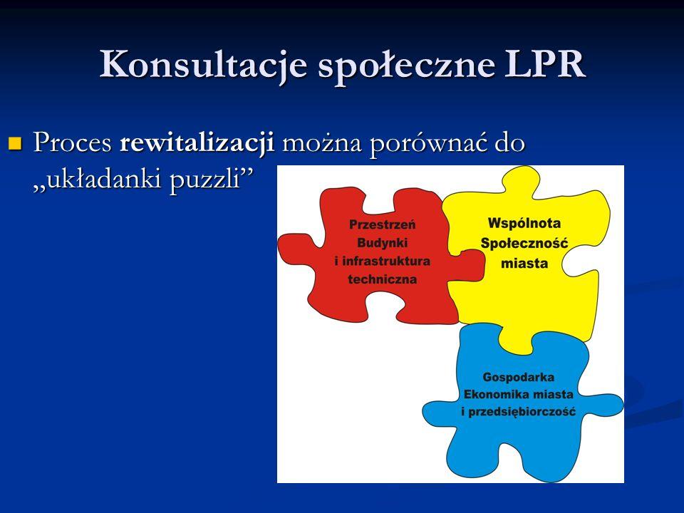 """Konsultacje społeczne LPR Proces rewitalizacji można porównać do """"układanki puzzli Proces rewitalizacji można porównać do """"układanki puzzli"""