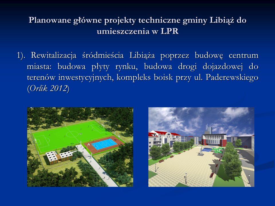 Planowane główne projekty techniczne gminy Libiąż do umieszczenia w LPR 1).
