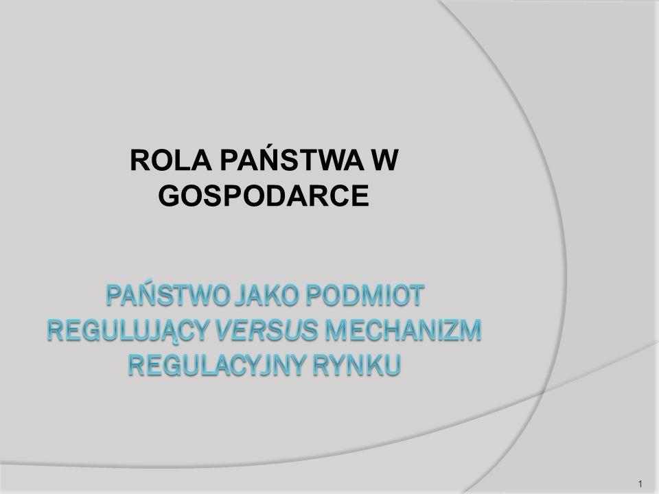 Istota ekonomicznej teorii regulacji publicznej (ETR) oraz błędy państwa w świetle ETR  Nieumiejętności rozwiązywania i łagodzenia konfliktów po stronie podaży regulacji (ciała legislacyjne vs.