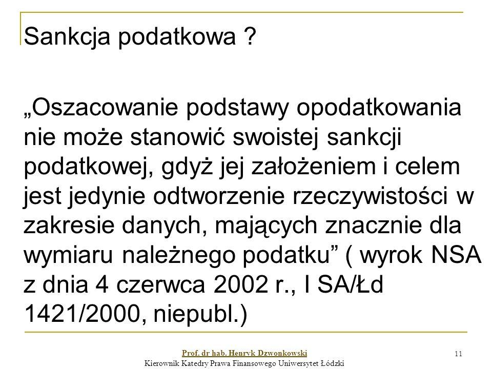 11 Sankcja podatkowa .
