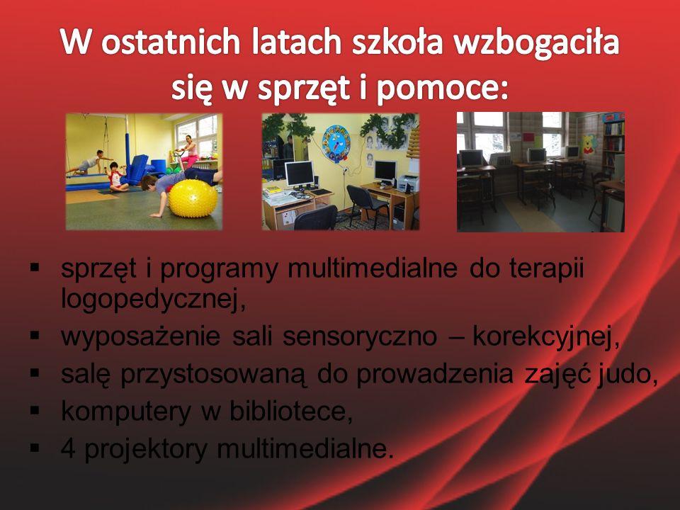 """ 2 tablice interaktywne,  boiska sportowe """"ORLIK ,  pomoce dydaktyczne do miejsc zabaw w szkole i szkolny plac zabaw,  2 pracownie informatyczne."""