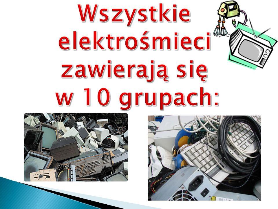 Symbol składa się z przekreślonego, kołowego kontenera na odpady wskazuje, że dany sprzęt elektryczny i elektroniczny nie może być wyrzucany wraz z innymi odpadami.