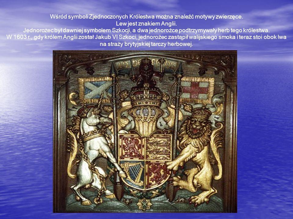 Wśród symboli Zjednoczonych Królestwa można znaleźć motywy zwierzęce.