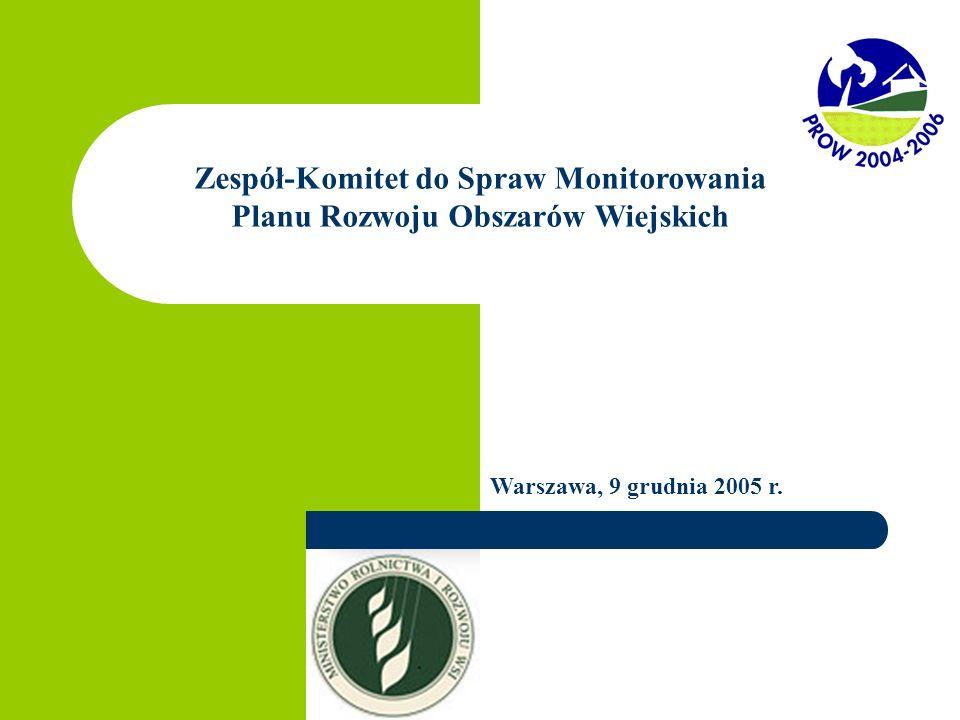 Zespół-Komitet do Spraw Monitorowania Planu Rozwoju Obszarów Wiejskich Warszawa, 9 grudnia 2005 r.