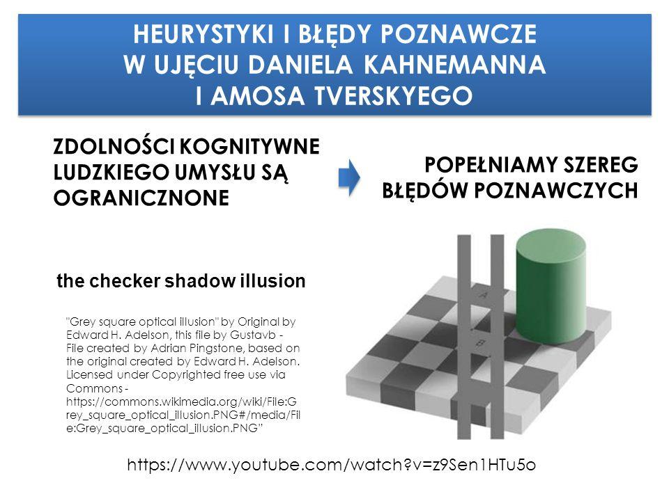https://www.youtube.com/watch v=z9Sen1HTu5o the checker shadow illusion ZDOLNOŚCI KOGNITYWNE LUDZKIEGO UMYSŁU SĄ OGRANICZNONE Grey square optical illusion by Original by Edward H.