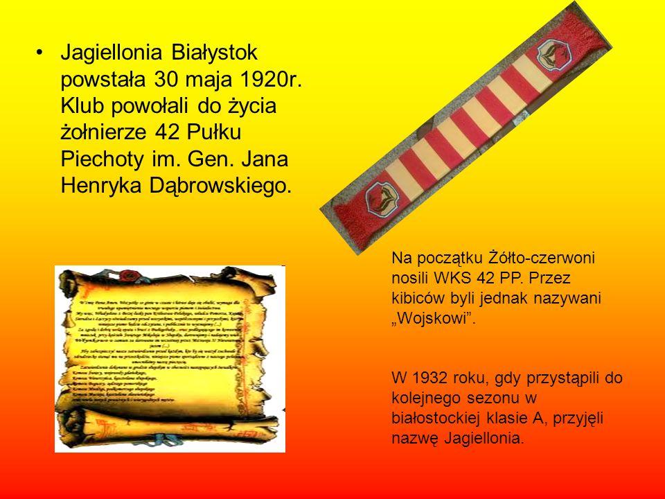 Jagiellonia Białystok powstała 30 maja 1920r.