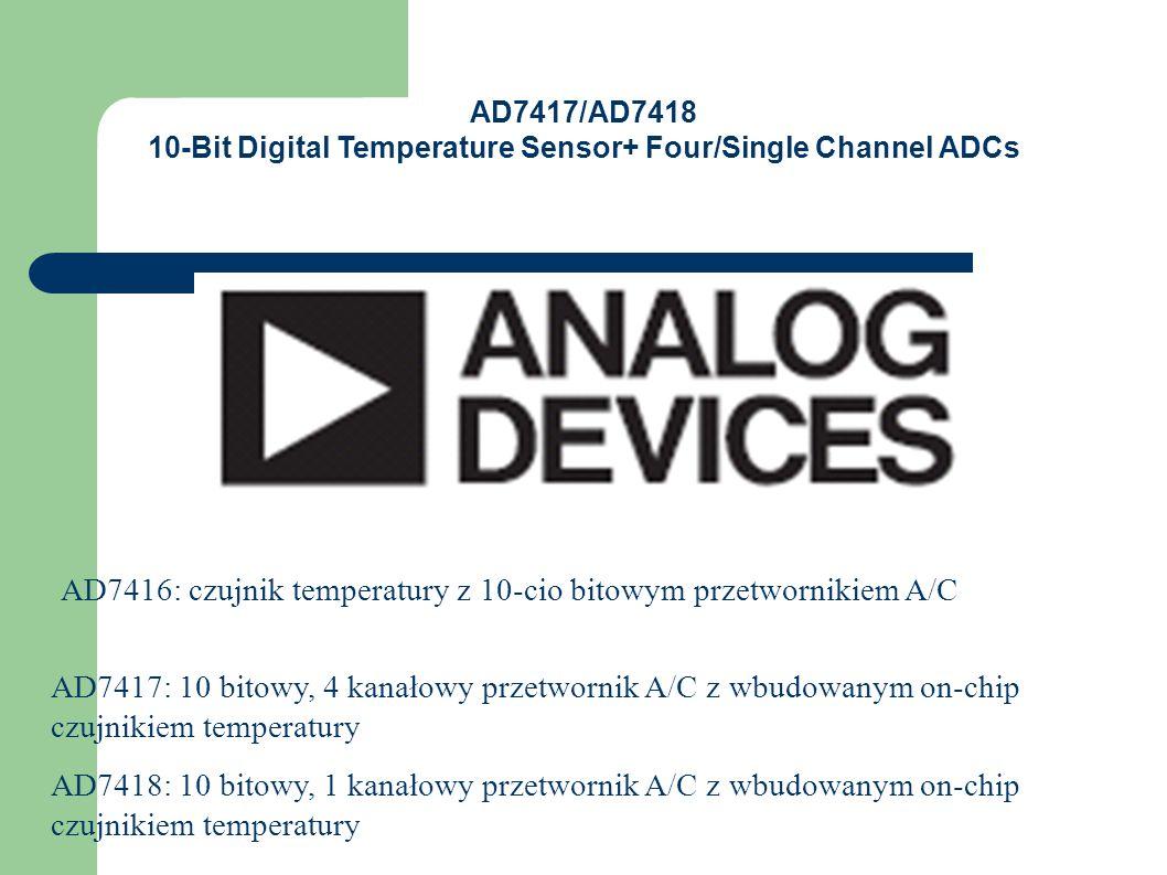 Typowa charakterystyka przetwarzania Czujnik temperatury TMP05/TMP06 firmy Analog Devices