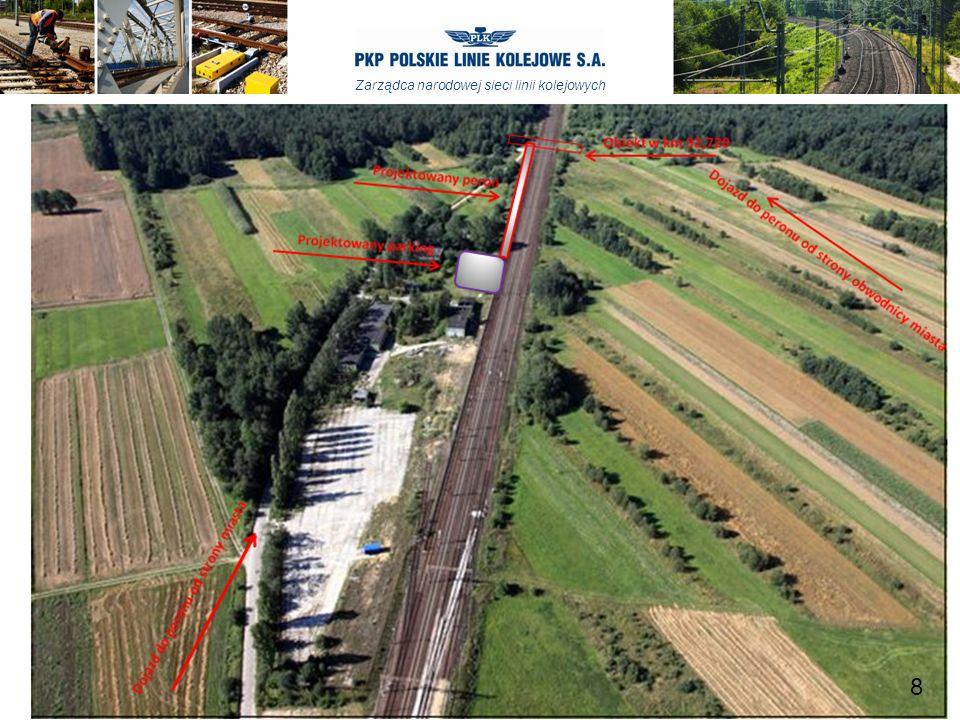 Zarządca narodowej sieci linii kolejowych Budowa peronu na stacji Opoczno Południe Zgodnie z Porozumieniem w sprawie przygotowania do realizacji budowy peronu Opoczno Południe wykonana zostanie w miesiącu czerwcu b.r.