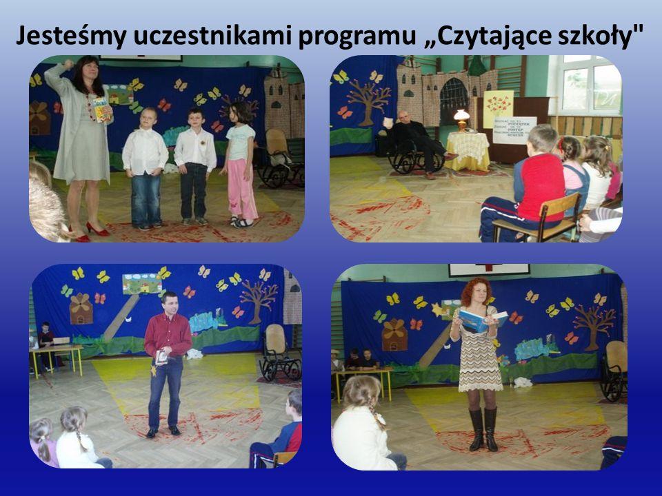 """Jesteśmy uczestnikami programu """"Czytające szkoły"""