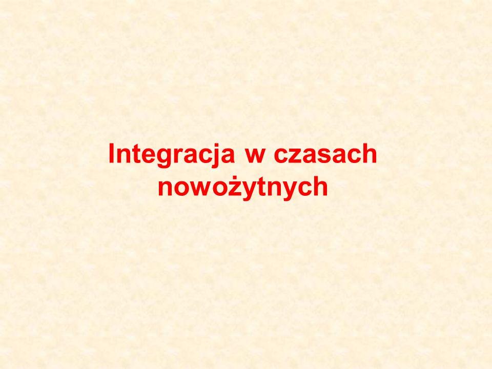 Integracja w czasach nowożytnych
