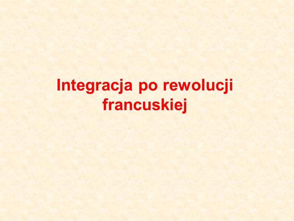 Integracja po rewolucji francuskiej