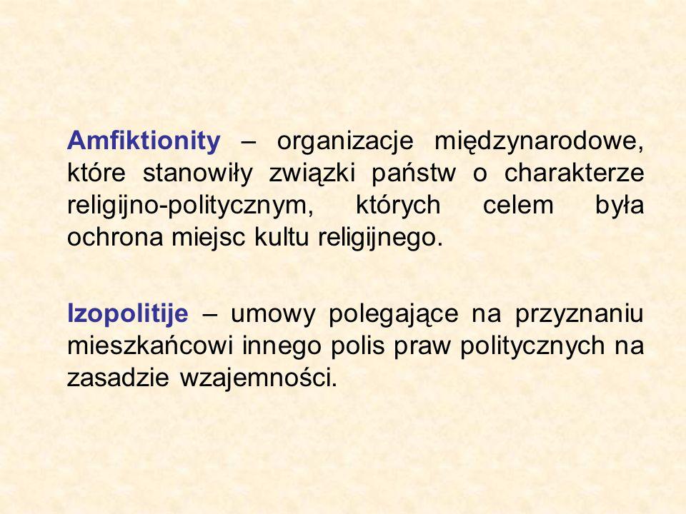 Amfiktionity – organizacje międzynarodowe, które stanowiły związki państw o charakterze religijno-politycznym, których celem była ochrona miejsc kultu