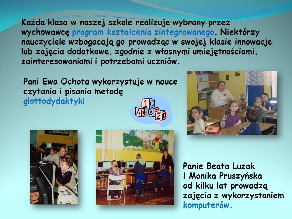 Oferta edukacyjna szkoły Przez cały okres nauki w naszej szkole wszystkie dzieci uczęszczają na lekcje języka angielskiego, które prowadzi pani Katarzyna Kościelska-Nyk.