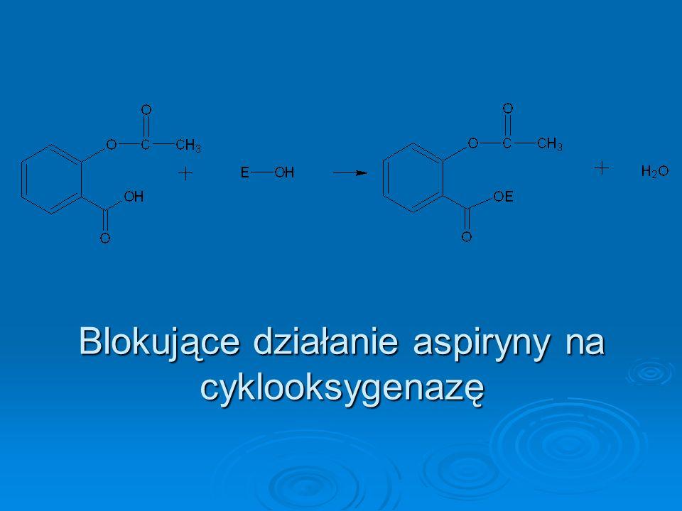 Blokujące działanie aspiryny na cyklooksygenazę